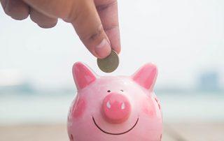 saving money in a piggy-bank