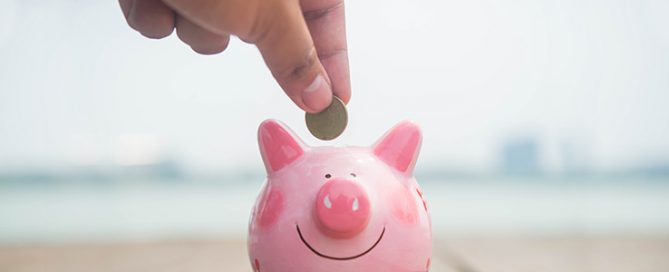 saving money in a piggy-bank
