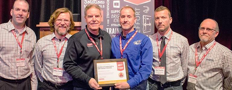 HVAC team awarded circle of champions award