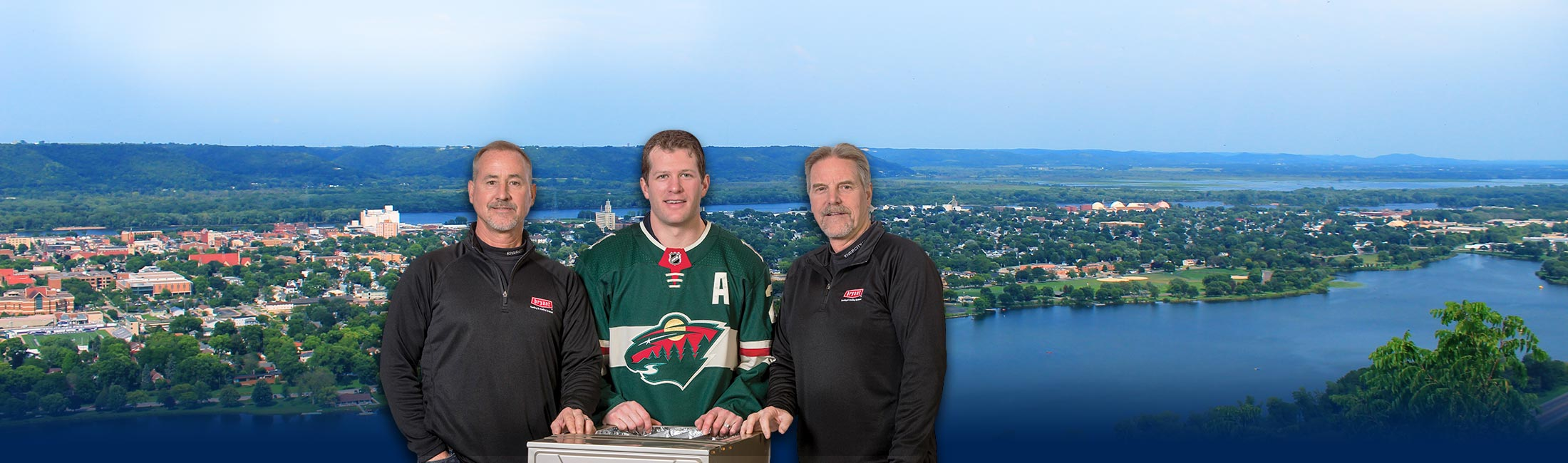 River City Heating Owners with the Minnesota Wild's Ryan Suter