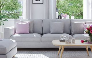 fresh and clean springtime living room