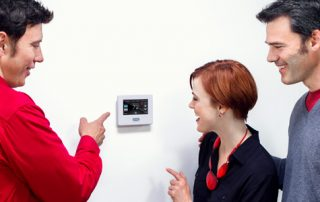 A wi-fi thermostat can help save money and energy while controlling the temperature of your home